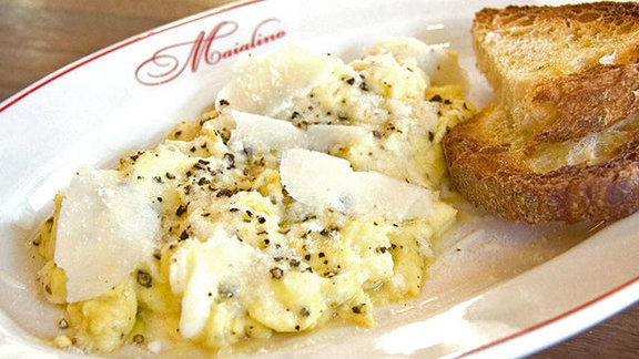Chef Missy Robbins reviews Cacio e Pepe eggs at Maialino
