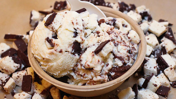 Peppermint Pattie ice cream at Ample Hills Creamery