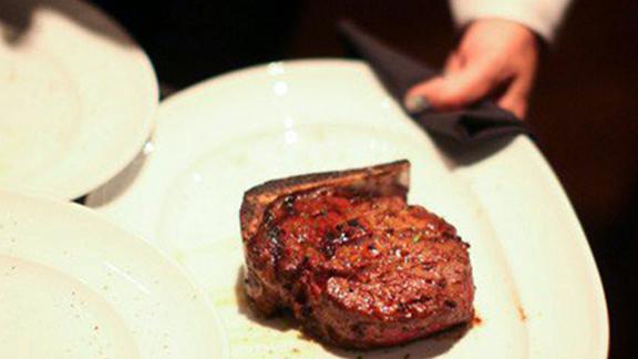 Bone-in ribeye at Mastro's Steakhouse