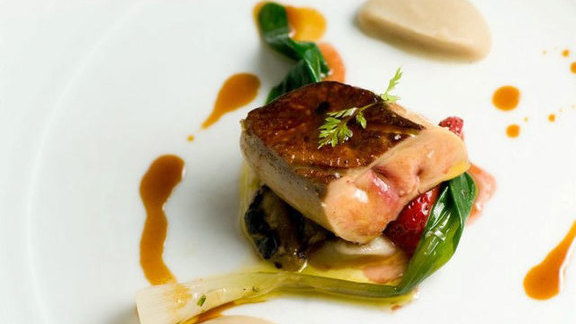 Seared Hudson Valley foie gras at L'Espalier
