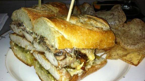 Chef Jeff Michaud reviews Chicken sandwich at Village Whiskey