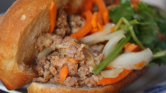Chef David Bazirgan reviews Bánh mì xíu mại at