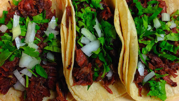 Barbacoa tacos at La Mexicana Bakery