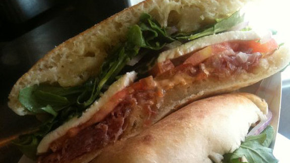 Chef Andrew Curren reviews Lucky's puccia at