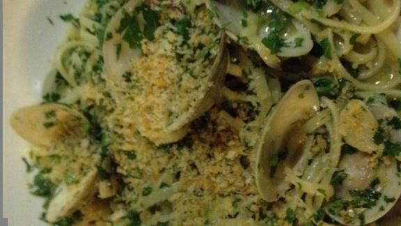 Linguine & clams at Asti Trattoria