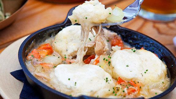 Chef Bryce Gilmore reviews Rabbit & dumplings at
