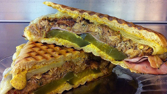 Cubano panini at Live Oak Market