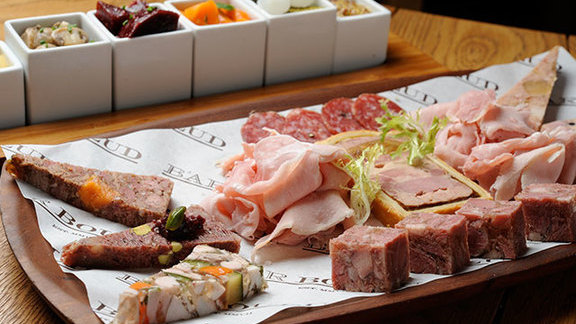 Charcuterie board at Bar Boulud