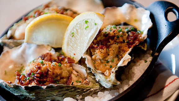 Baked oysters at Marlowe