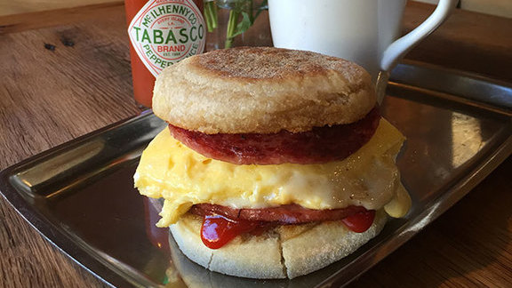 Moody's pork roll breakfast sandwich at Moody Street Dental