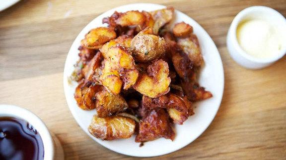 Crispy potatoes at Plow