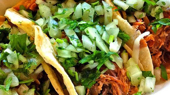 Carnitas tacos at Tacos El Asadero