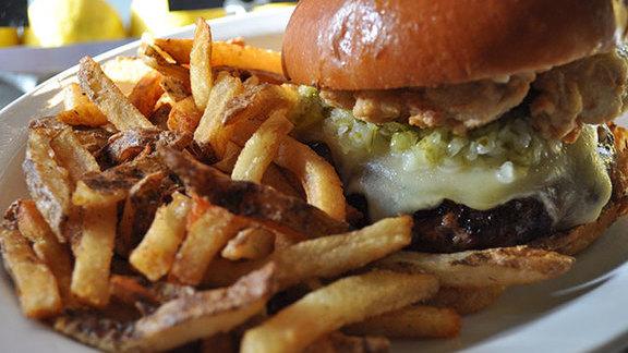 Neptune burger at Neptune Oyster