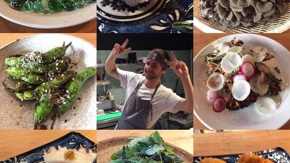 Nigiri, uni, peppers, oysters at Skippa