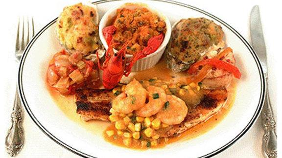 Brigtsen's seafood platter at Brigtsen's Restaurant