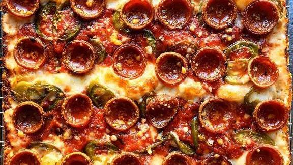 Chef Emily Hyland reviews Pepperoni pickled chili honey pizza at Pizza Loves Emily
