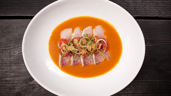 Chef Alberto Cabrera reviews Japanese amberjack at Pubbelly