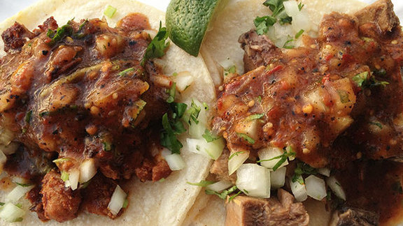 Chef Gayle Pirie reviews Pollo asado tacos at