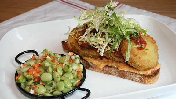 Fried green tomato BLT at Yardbird Southern Table & Bar