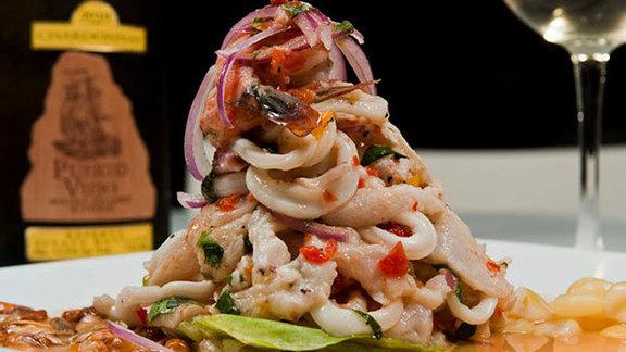 Ceviche seafood orgy at CVI.CHE 105