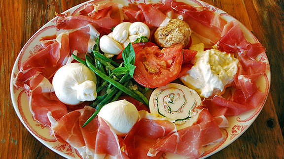 Homemade mozzarella & burrata tasting at Sardinia Enoteca Ristorante