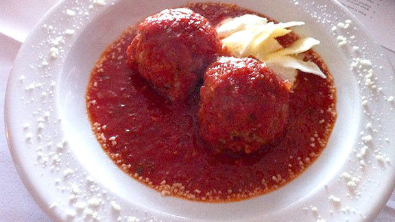Meatballs w/ ricotta at Macaluso's & Co.