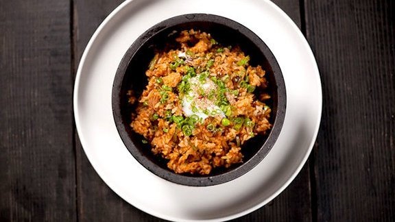 Chef Paula DaSilva reviews Kimchee fried rice at