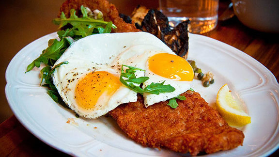 Country ham schnitzel at The Publican