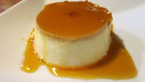 Flan de almendras at The Harvest Vine