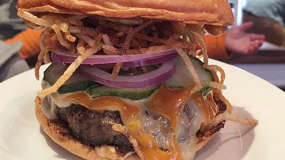 Fedora burger at Bar Sardine