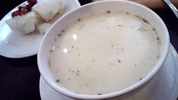 Zurek (white borscht) at Podhalanka