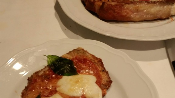 bone in veal parm at Carbone