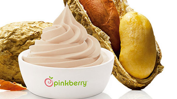 Peanut butter yogurt at Pinkberry