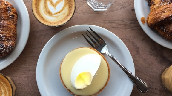 Lemon tart at Tartine Bakery