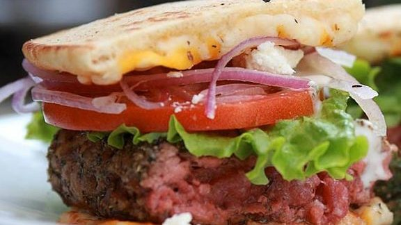 Chef Kent Rathbun reviews Greek cheeseburger at