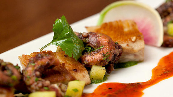 Chef Tre Wilcox reviews Moroccan octopus & pork jowls at