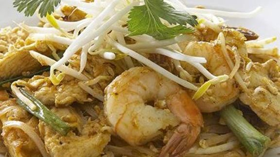 Pad Thai w/ shrimp at The Mint
