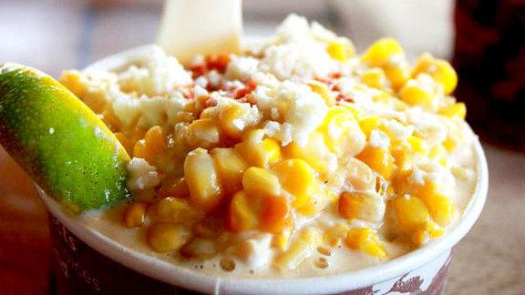 Rotisserie corn at Velvet Taco