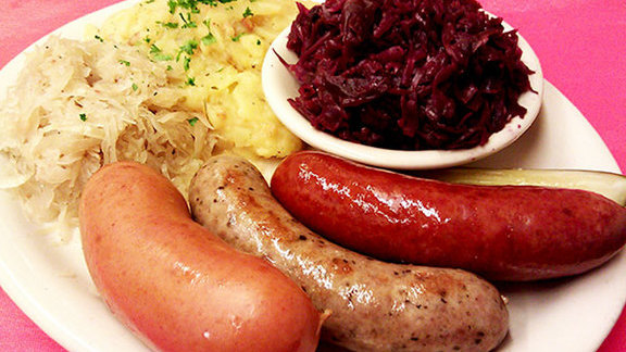 Wurst Teller at Kuby's Sausage House