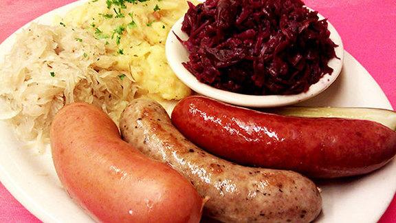 Wurst Teller at Kuby's Sausage House