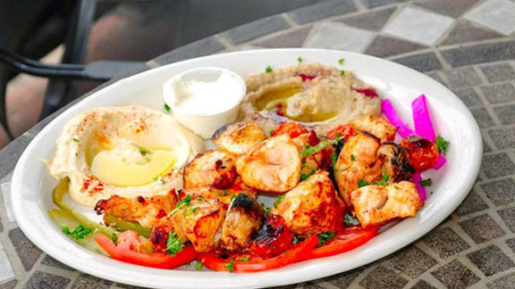 Shish tawook at Afrah Mediterranean Restaurant & Pastries
