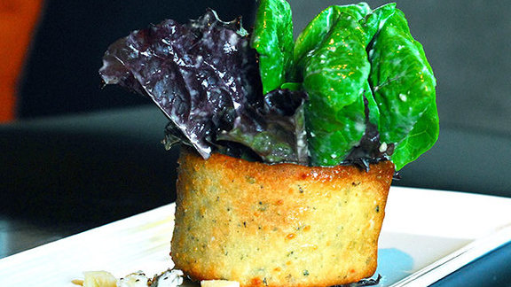 Chef Richard Chamberlain reviews Baby romaine Caesar at Abacus