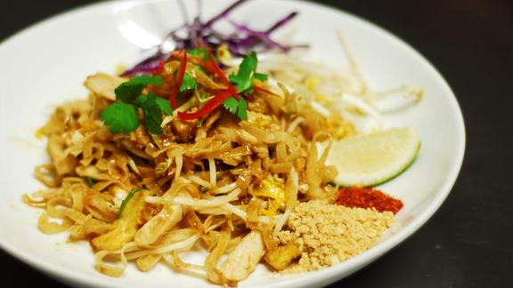 Crispy pad thai with tofu at Palm Sugar