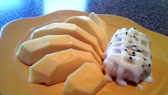 Sweet mango & coconut sticky rice at Mango Thai Cuisine