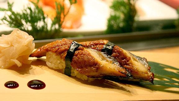 Fresh water eel sashimi at Nobu