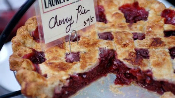 Tart cherry pie at Lauretta Jean's