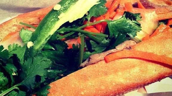 Roll pork sandwich at Binh Minh Bakery
