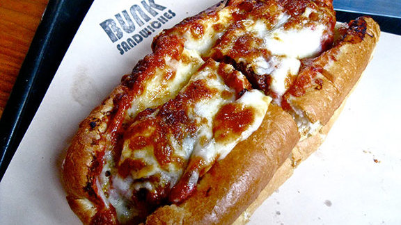Meatball Parmigiano Hero at Bunk Sandwiches
