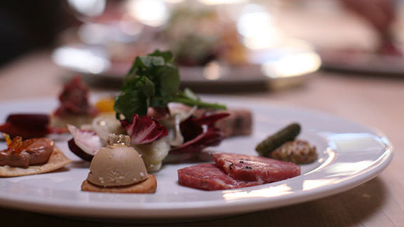 Chef Chris Israel reviews Charcuterie plate at Beast