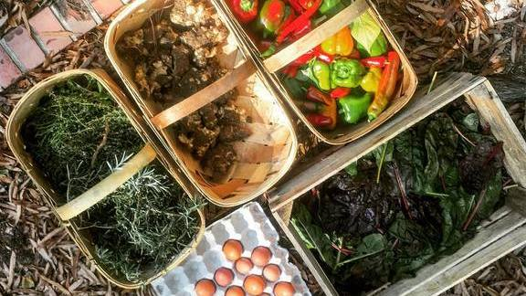 Chef Sean Fowler reviews Peppers, herbs, greens, sunchokes and eggs at Mandolin